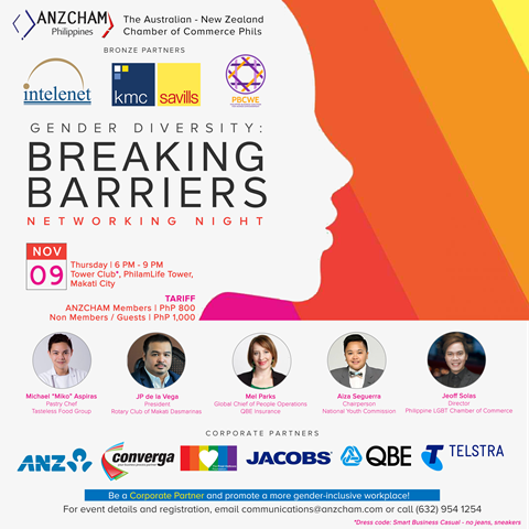 ANZCHAM Gender Diversity Breaking Barriers Networking Night