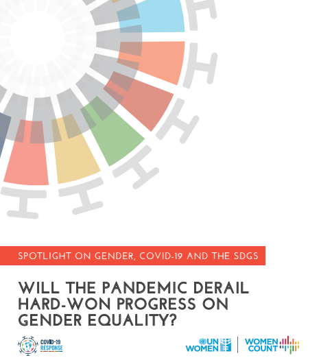 Spotlight on gender, COVID-19 and the SDGs: Will the pandemic derail hard-won progress on gender equality?